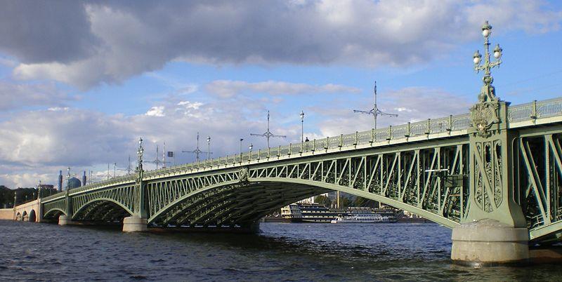 Фото 1, Троицкий мост, Санкт-Петербург